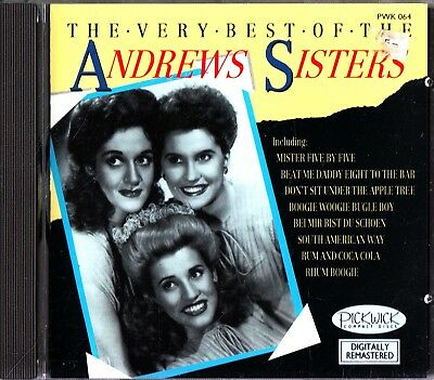 THE ANDREWS SISTERS- Very Best of/Greatest Hits CD (1988) Rum and Coca-Cola/Tico