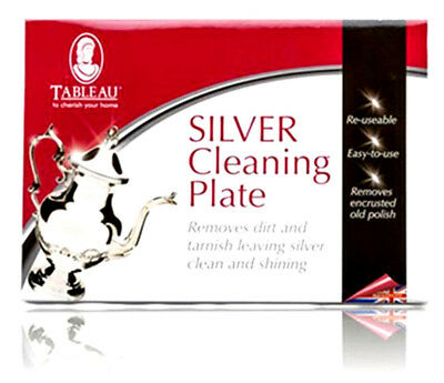 Silver Cleaning Plate Removes Dirt & Tarnish By Tableau Re-Usable Easy To Use
