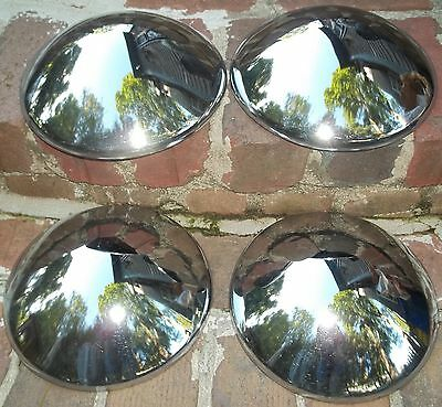 Vintage Hubcaps To Fit the Old Volkswagen VW Beetle Set Of Four Chrome