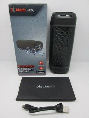 Blackweb Rugged Premium Bluetooth Speaker System Bwa18aa011