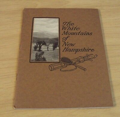 """1917 GUIDE Booklet/MAP to """"The WHITE MOUNTAINS of NH"""" Boston & Maine RAILROAD~"""