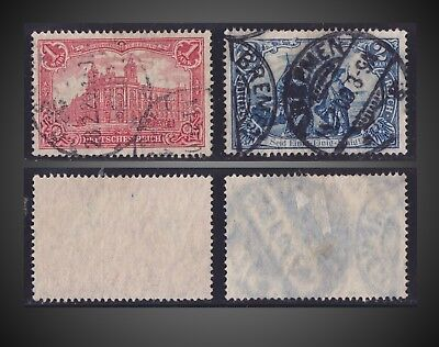 1902 Germany Empire 1M , 2M Used  Sct 75 , 76  Mi.78 , 79A