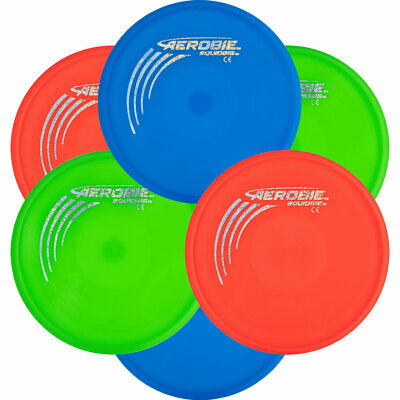 Aerobie SQUIDGIE - 6 PACK Soft Flying Discs - Flexible, Safe & Easy Throws