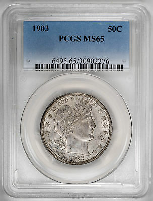 1903 50C Barber Half Dollar - PCGS MS65