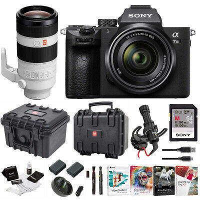 Sony α7 III Full Frame Mirrorless Camera with 28-70mm and 100-400mm GM Lens Kit