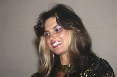 CAROLINE MUNRO Original Candid 35mm Photo Transparency Slide smiling