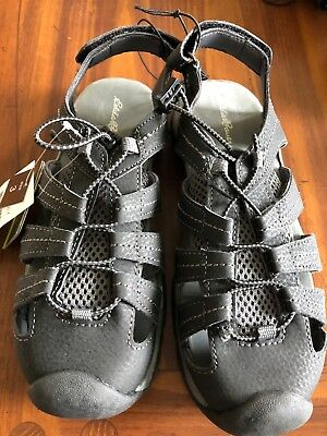 30acd021a759 Eddie Bauer Youth Kids River Sandal Bump Toe Black Grey NWT Size 3 Youth