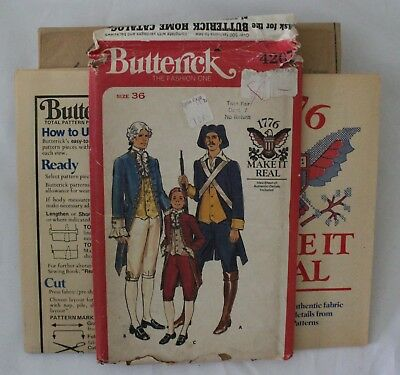 Butterick #4207 - Bicentiennial Colonial Men's Military & Statesman Costume