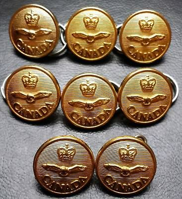 Collection of 8 Royal Canadian Air Force Military Buttons - Canadian Buttons Ltd
