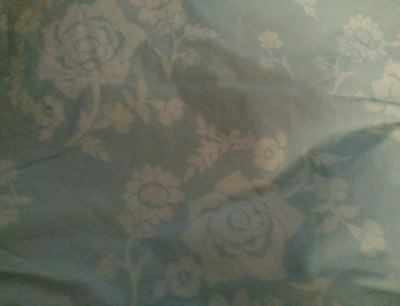 New Pottery Barn Kids BLUE Eliza Toddler DUVET floral reverse stripes crib