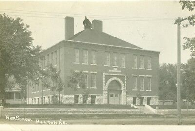1907 HOLTON Kansas Real Photo  Post Card of Holton  High School