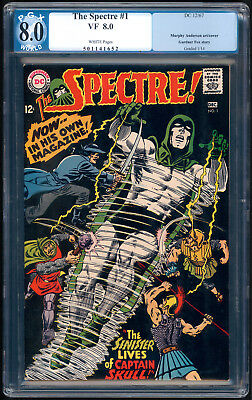 """The SPECTRE #1 """"1967"""". Written by Gardner Fox! PGX Graded 8.0 with White Pages."""