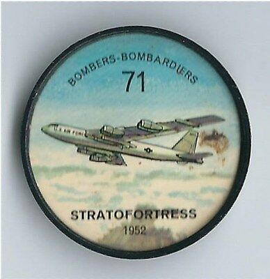 Jell-o/Hostess-1960's - Plastic Airplane Coins - #71 Stratofortress 1952