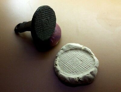 "Perfect Old Antique Post-Medieval Wax Seal Stamp Initial   "" B ""   #2938"