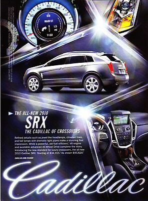 2010 Cadillac SRX Crossover photo New Standard for Luxury promo print ad