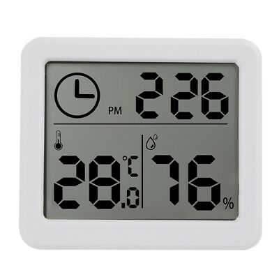 """3.2"""" LCD Digital Temperature Humidity Meter Clock Kitchen Thermometer Hygrometer"""