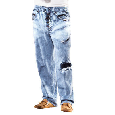 MensFaux Denim Drawstring Lounge Pant, by Collections Etc
