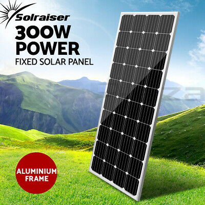 12V 300W Solar Panel Kit Mono Generator Caravan Camping Battery Charging 300watt