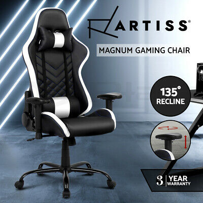Artiss Gaming Chair Office Chair Computer Chairs Racing Recliner Leather Seat