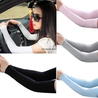 Cooling Arm Sleeves Cover UV Sun Protection Outdoor Ice Silk Sleeves JTOO