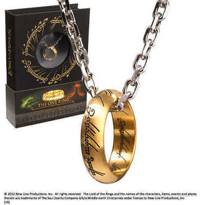 Lord of The Rings The One Ring Necklace Noble Collection Rings