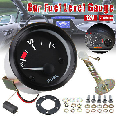 "Universal 2"" 52mm Car Fuel Level Gauge Meter With Fuel Sensor E-1/2-F Pointer"