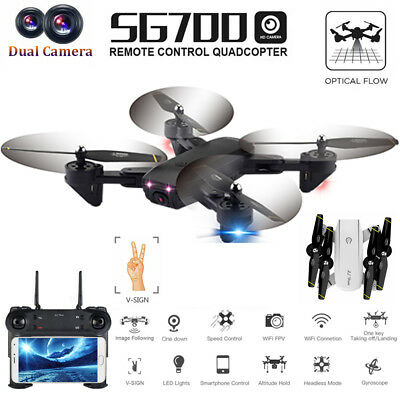 SG700 Drone 2.0MP Wide Angle Dual Camera Wifi FPV Foldable 6-Axis 4CH Quadcopter