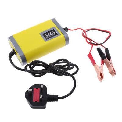 2A Car Battery Charger Automatic Smart Intelligent Pulse Repair DC12V Yellow