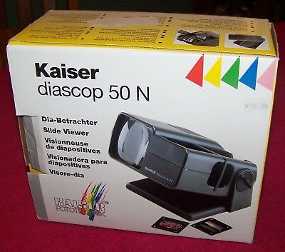 Kaiser diascop 50 N Film Slide Viewer 35mm 2x2 made Germany 3x Magnify LN Cond