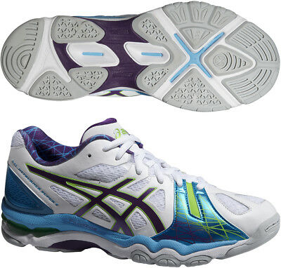 Asics Gel Netburner Super 5 Ladies Netball Shoes - White