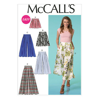 McCall's 7131 Sewing Pattern to MAKE Misses' Wide-Leg Shorts, Culottes & Pants