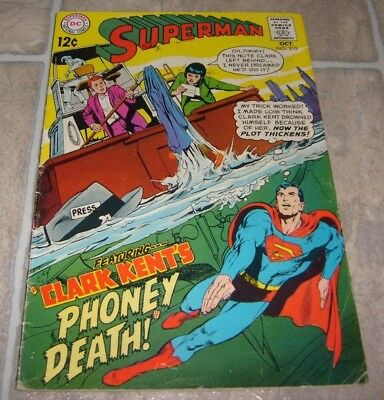 Superman Comic # 210 Adams Classic Silver Age Action G/vg Lois Jimmy