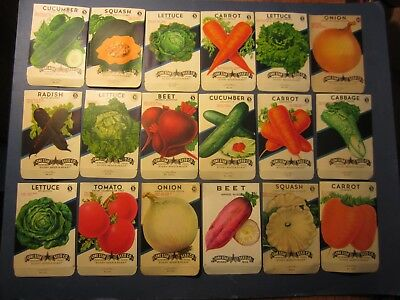 Lot of 18 Old Vintage 1940's VEGETABLE SEED PACKETS - Lone Star - TEXAS - EMPTY