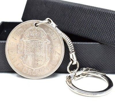 Half Penny Coin Keyring Keychain Choose Your Date 1923-1967 Birthday Gift BOX