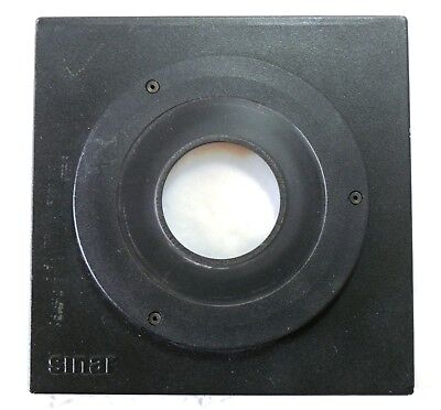 Genuine Sinar 6mm top hat lens board lensboard panel size 1 EXC++ #89212
