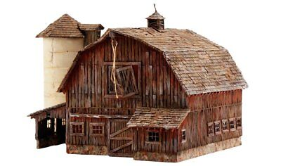 Woodland Scenics PF5211, N Scale, Landmark Structures Building Kit - Rustic Barn