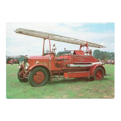 DENNIS 30 cwt OPEN BODY FIRE FIGHTING APPLIANCE FIRE SERVICE SERIES #51 POSTCARD