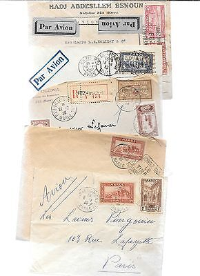 MOROCCO-About 1/2 lb. of covers-38 nearly all older 1920s/1930s
