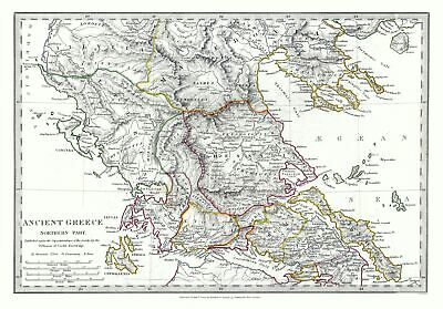 International Map - Ancient Greece - Northern Part - Society 1830 - 32.96 x 23