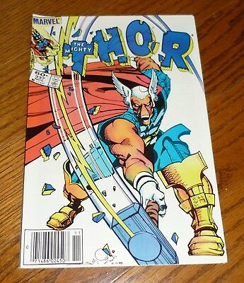 Thor # 337 VFN, FIRST appearance of Beta Ray Bill, Walt Simonson, Marvel 1983