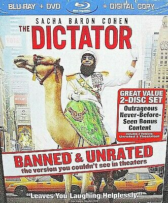 The Dictator NEW, Blu-ray/DVD, 2012, 2-Disc ,Sacha Baron Cohen ,Borat,Banned U/R
