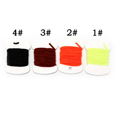 2M Fly Fishing Wooly Worms Fly Streamers Fly Tying Chenile Thick 3mm~5m` 4colors