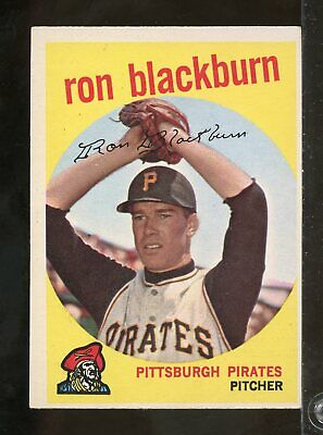 1959 Topps #396 BOB RUSH Milwaukee Braves EX (GT2)