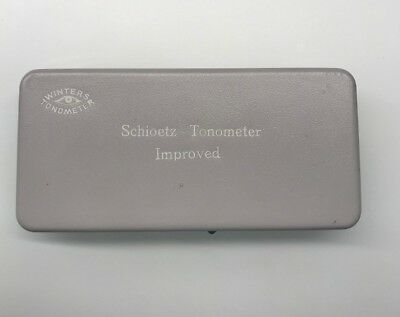 Schoietz Ophthalmic Manual Tonometer Improved w Travel Case
