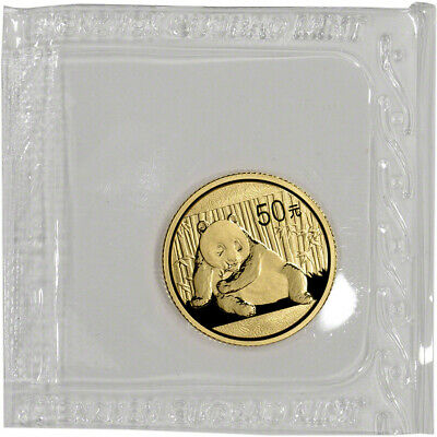 China Gold Panda 1/10 oz 50 Yuan - BU - Mint Sealed - Random Date