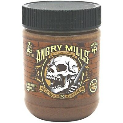 Sinister Labs Angry Mills Whey Protein Isolate ALMOND BUTTER SPREAD, NO CAFFEINE