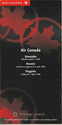 Air Canada system timetable 4/5/98 [5074] Buy 2 get 1 free