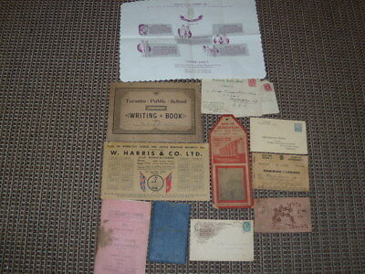 Antique Bulk Lot - 11 Toronto Advertising & Misc.papers, Etc. See Pic,canada