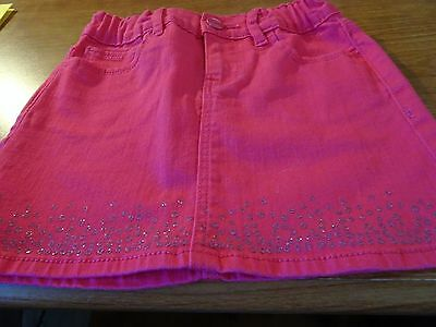 Gap Kids Girls Size 6 Hot Pink Skirt-Adjustable Waist-Pockets-Denim Cotton/spand