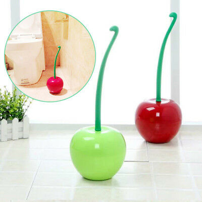 Creative Cherry Shape Clean Bathroom Lav Toilet Brush Cleaning Supply Tools 2018